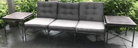 Restoration Hardware Outdoor Sofa  Side Tables