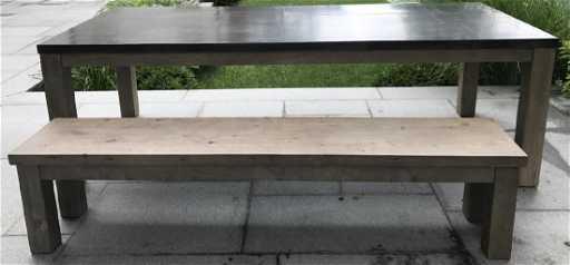 Restoration Hardware Railroad Dining Table Bench