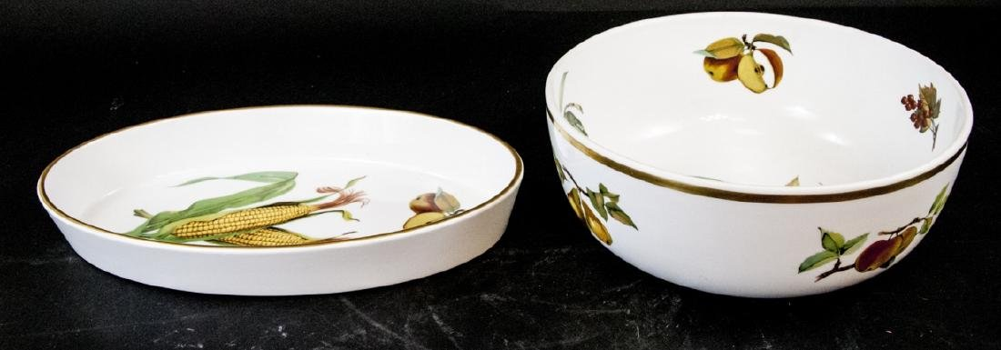Two Royal Worcester Evesham Serving Dishes
