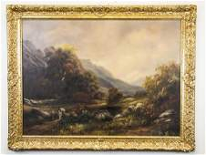 20th C Oil on Canvas Landscape Signed Paul Wesley