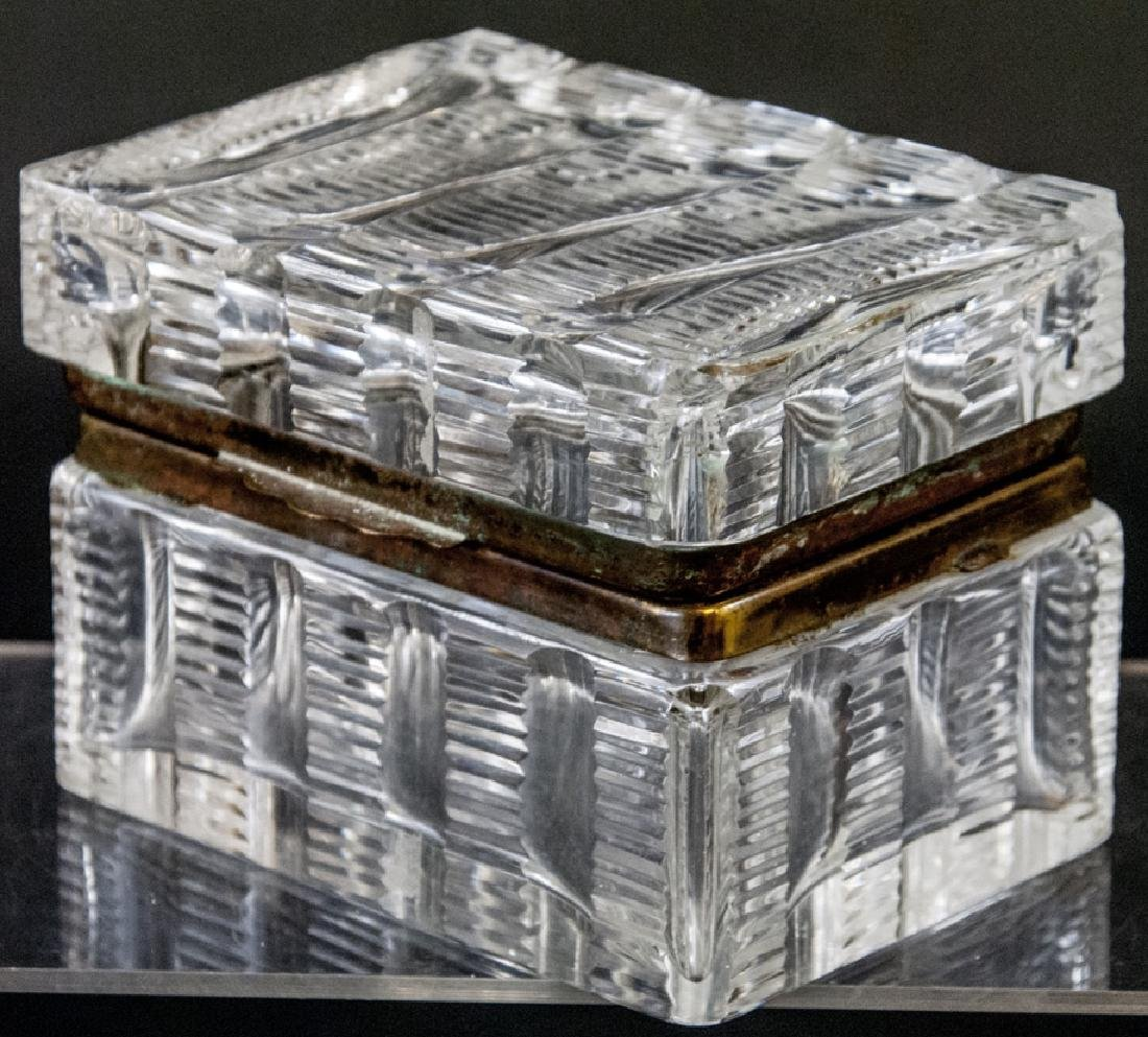 Antique French Baccarat Style Cut Crystal Box