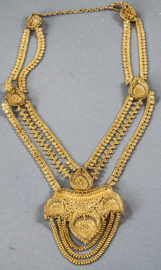100 Gram Indian 22kt Yellow Gold Filigree Necklace - 10