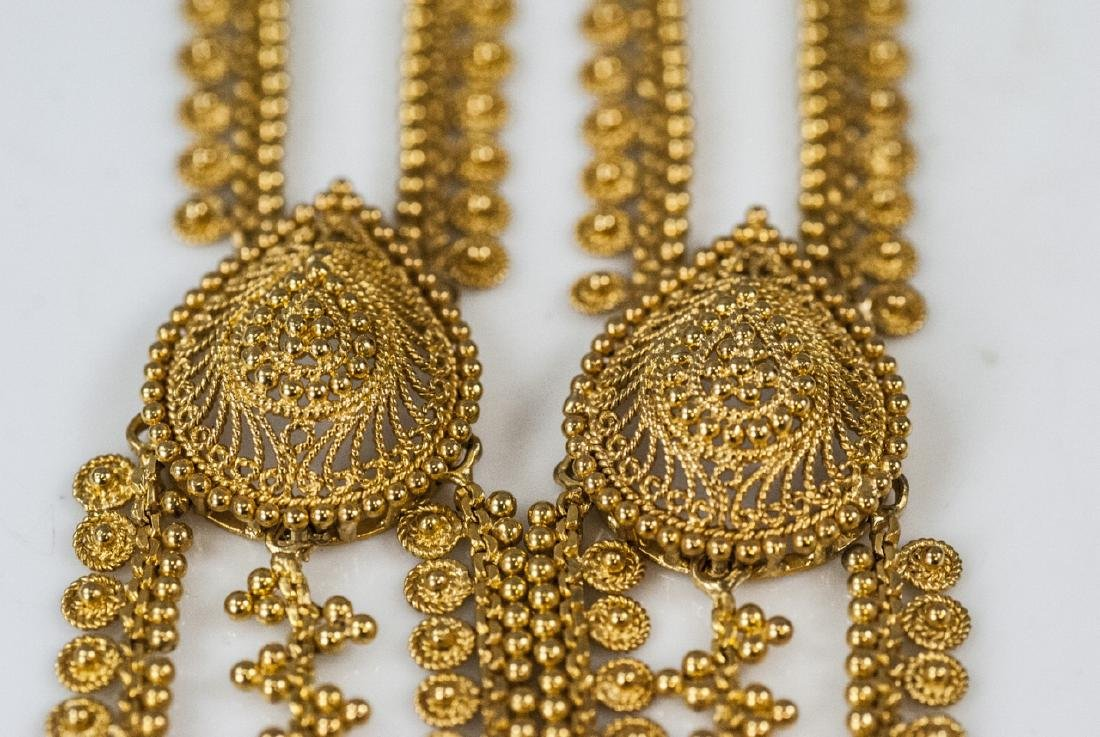 100 Gram Indian 22kt Yellow Gold Filigree Necklace - 3