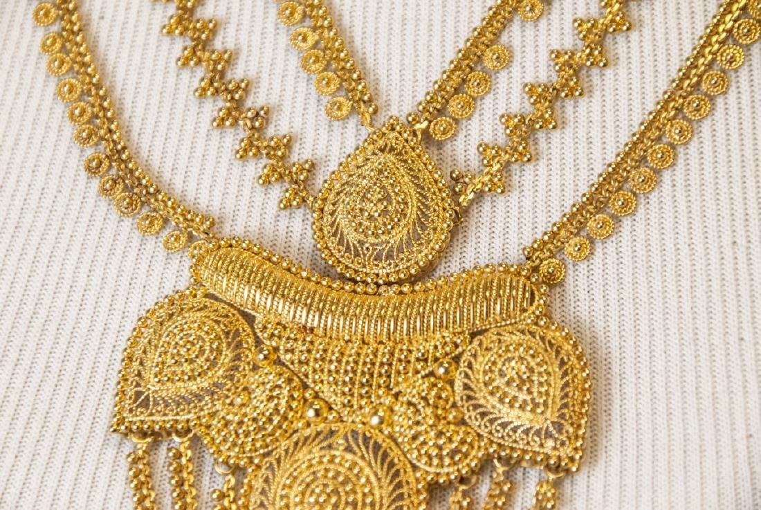 100 Gram Indian 22kt Yellow Gold Filigree Necklace - 5
