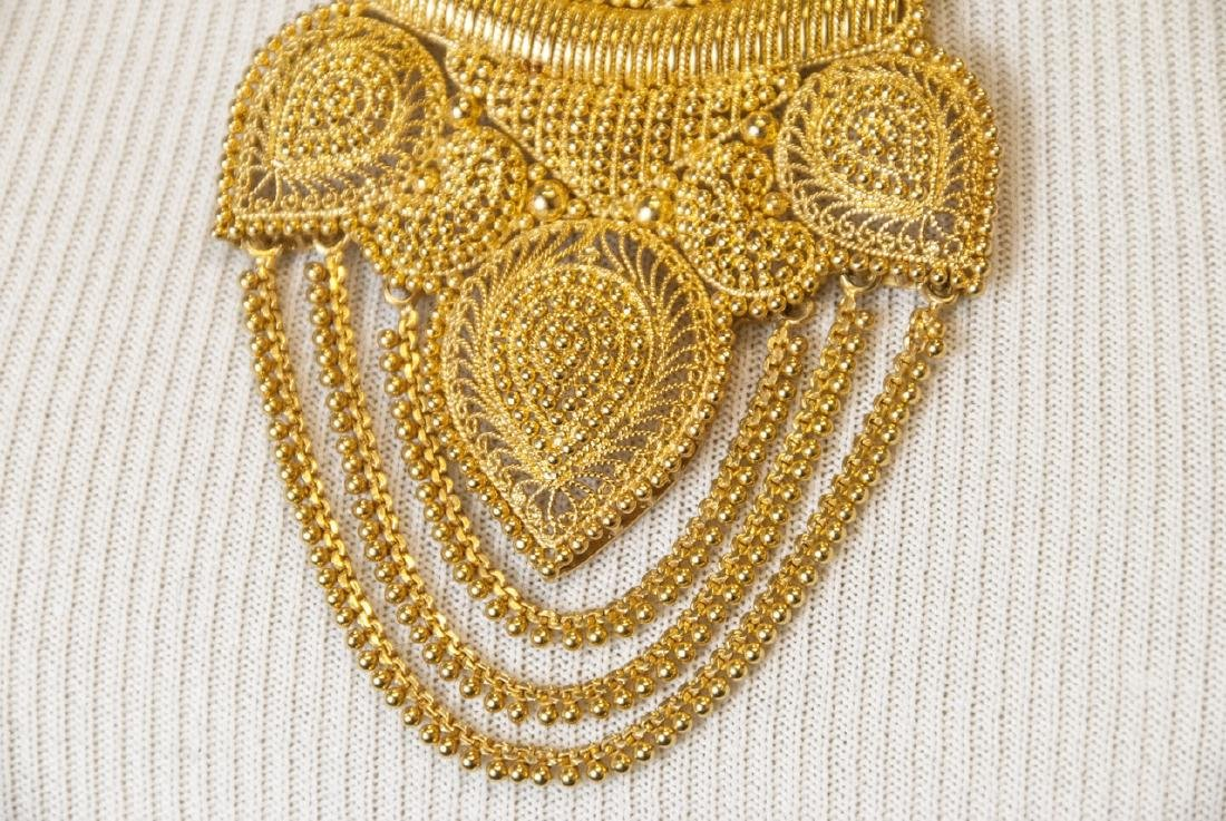100 Gram Indian 22kt Yellow Gold Filigree Necklace - 6