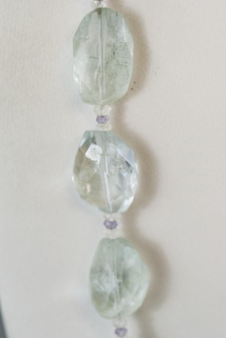 Estate Faceted Aquamarine & Amethyst Necklace - 3