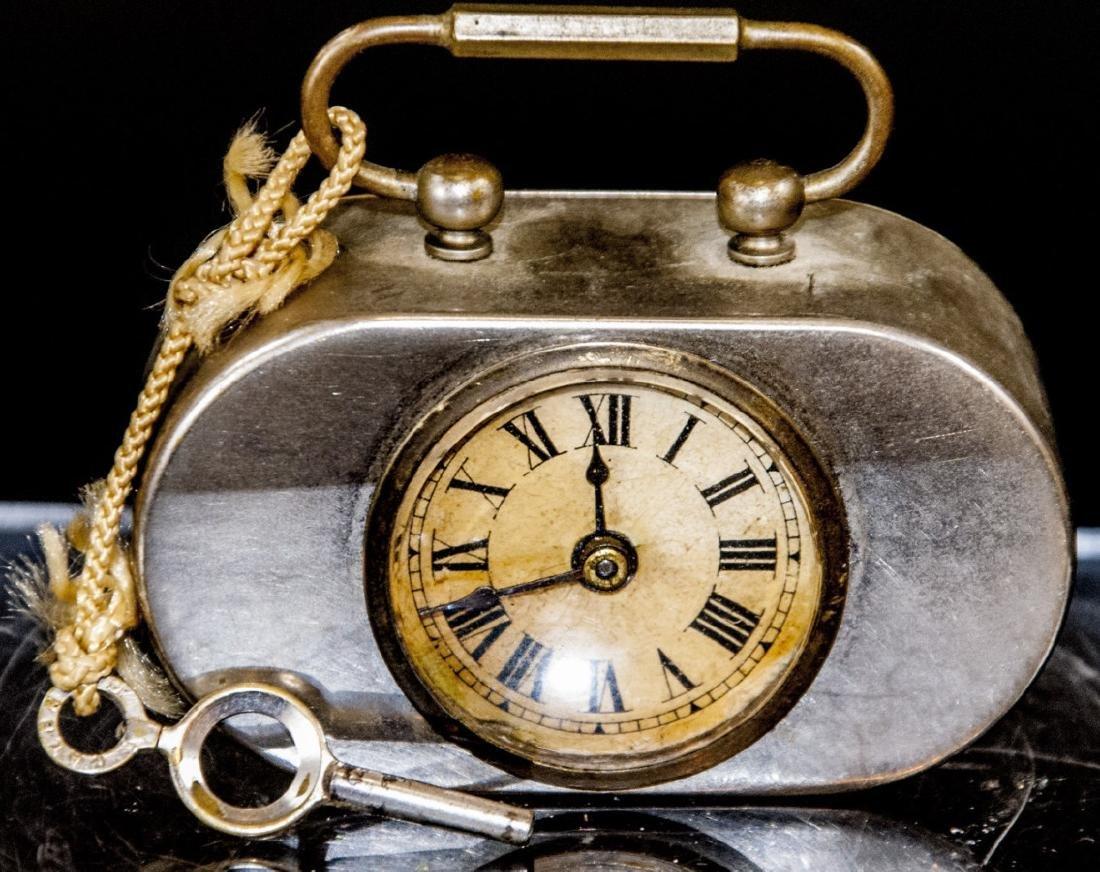 Antique Miniature Art Deco Clock w Original Key