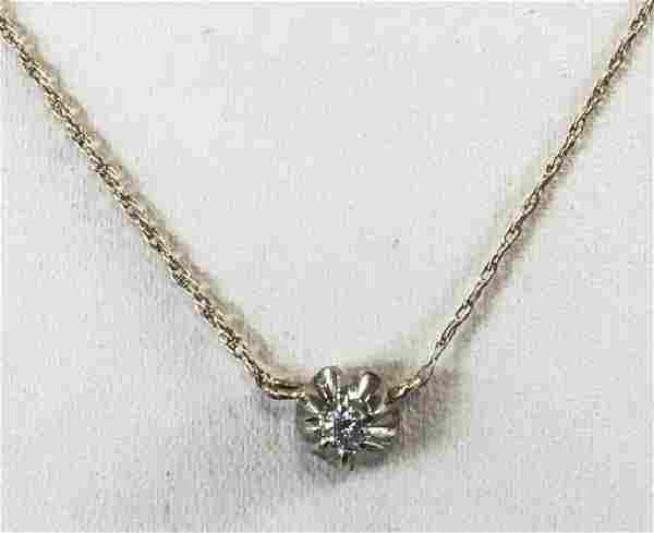Estate 14kt Yellow Gold & Diamond Necklace