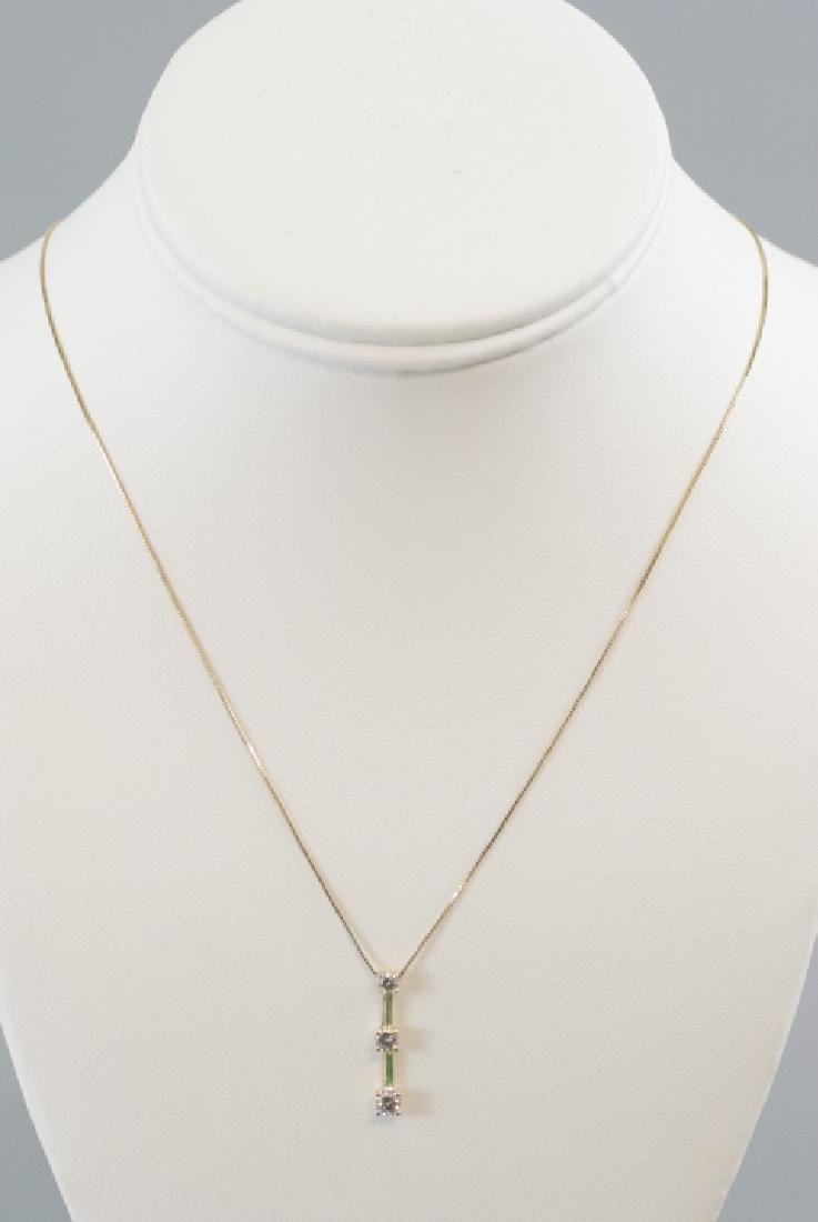 Estate 14kt Yellow Gold .30 Carat Diamond Necklace - 2