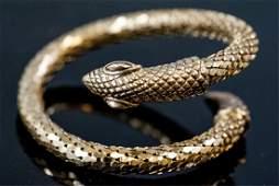 Whiting & Davis Style Coiled Snake Bracelet