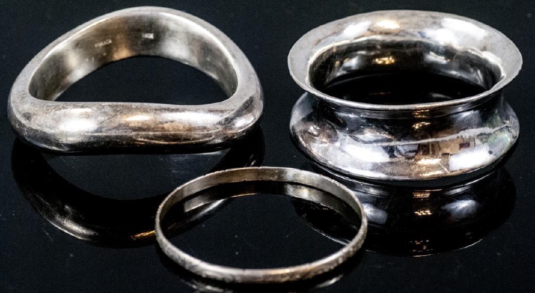 Three Sterling Silver Bangle Bracelets