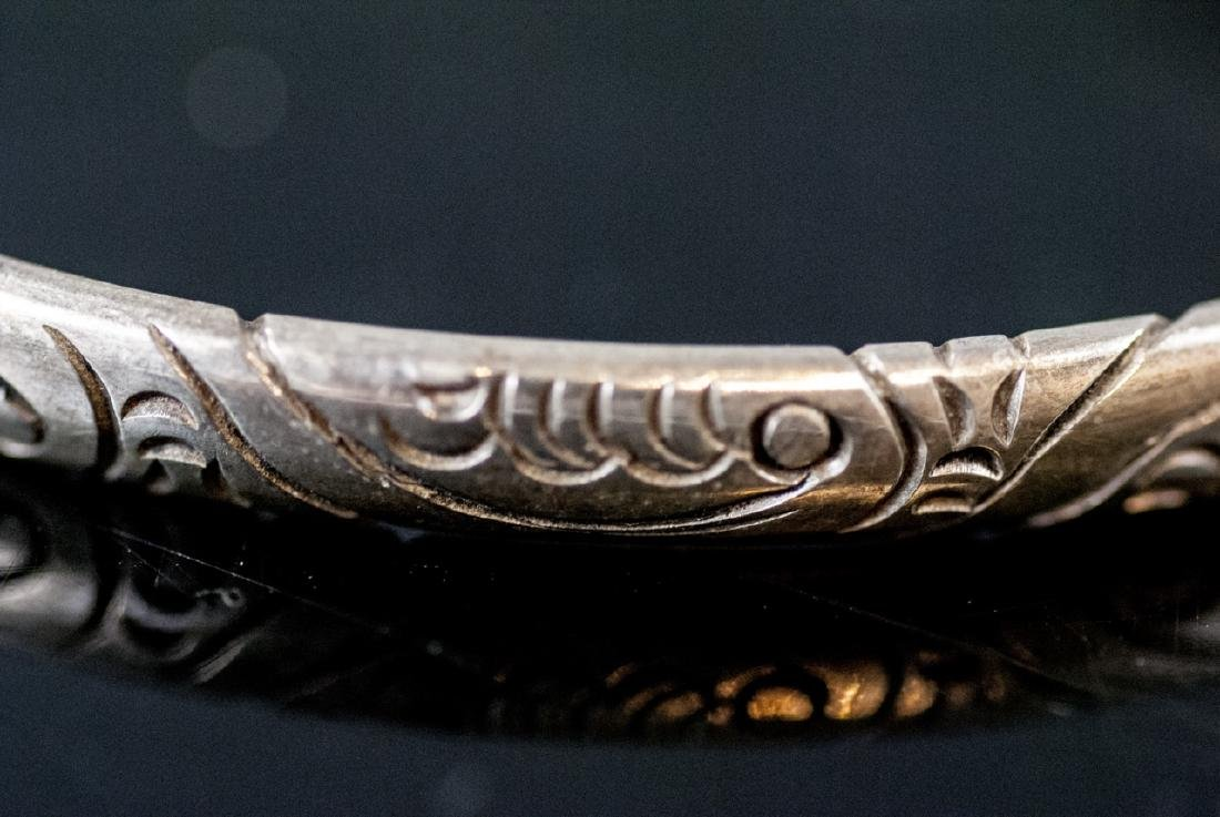 Three Sterling Silver Bangle Bracelets - 2