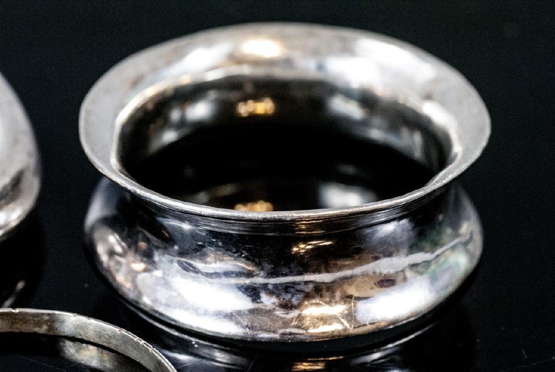 Three Sterling Silver Bangle Bracelets - 3