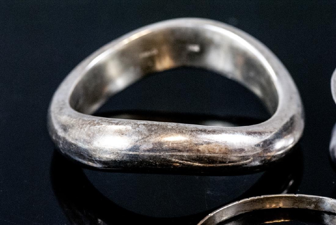 Three Sterling Silver Bangle Bracelets - 4