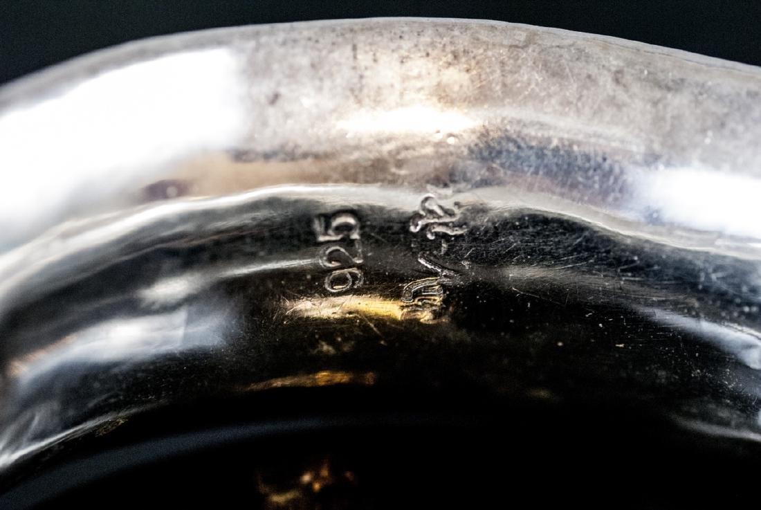 Three Sterling Silver Bangle Bracelets - 7