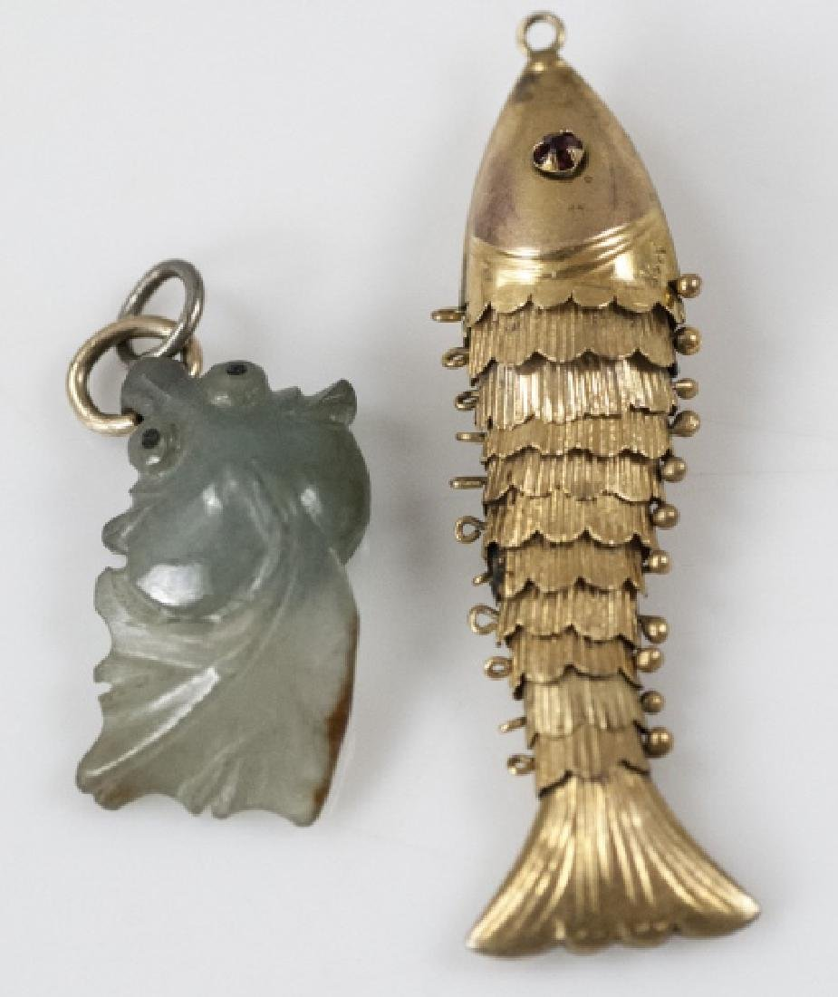 Estate / Vintage Chinese Fish Pendants / Charms