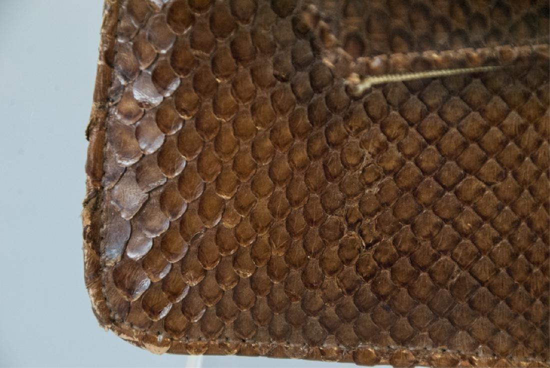 Vintage Snakeskin Silk Lined Purse / Hand Bag - 2