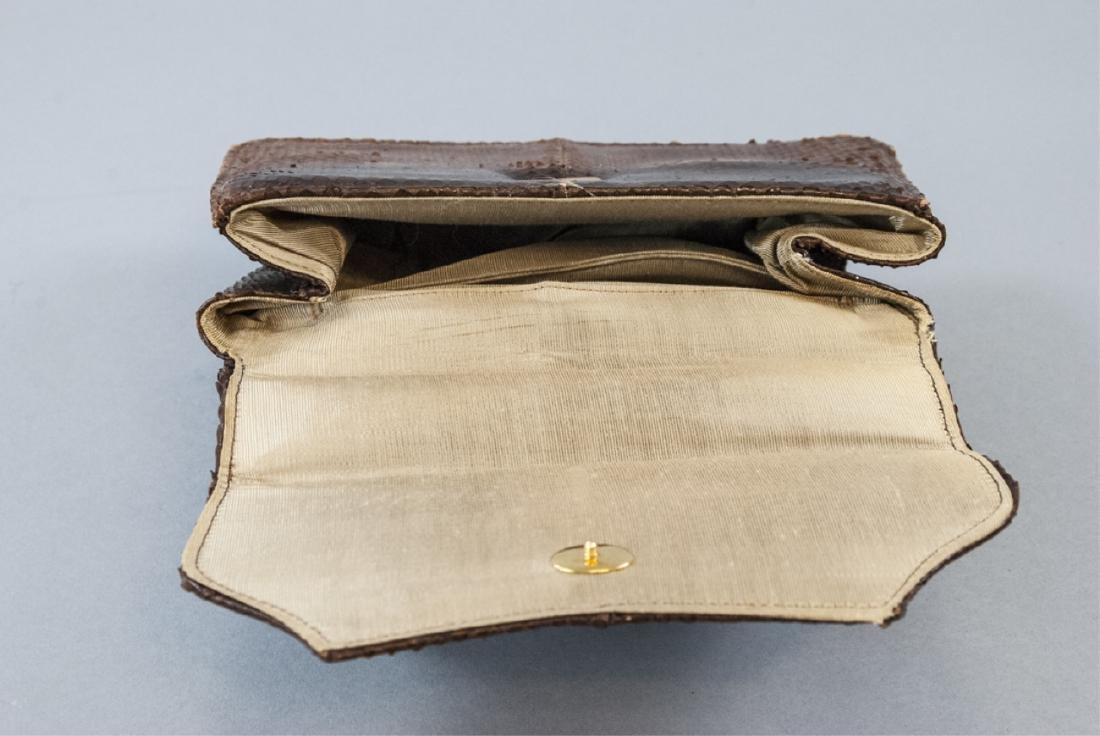 Vintage Snakeskin Silk Lined Purse / Hand Bag - 6