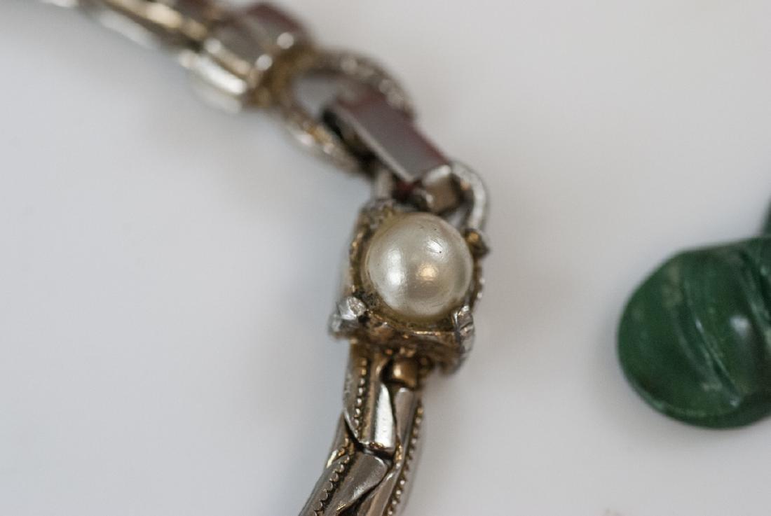 Beaded Necklace, Malachite Pendant & Bracelet - 3
