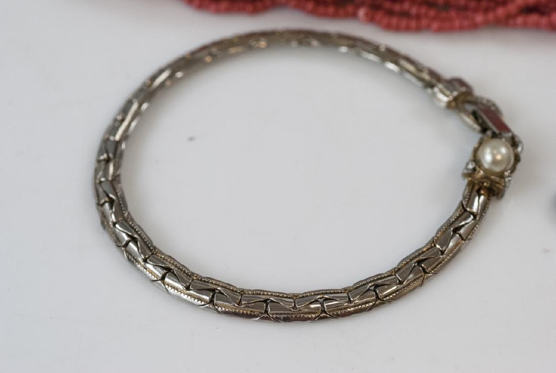 Beaded Necklace, Malachite Pendant & Bracelet - 5
