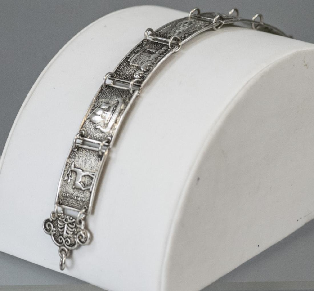 Estate 800 Silver Greco-Roman Vignette Bracelet