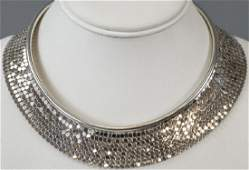 Vtg 1970s Sterling Silver Chain Mail Necklace