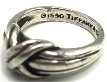Vintage Tiffany & Co Sterling Silver X Ring