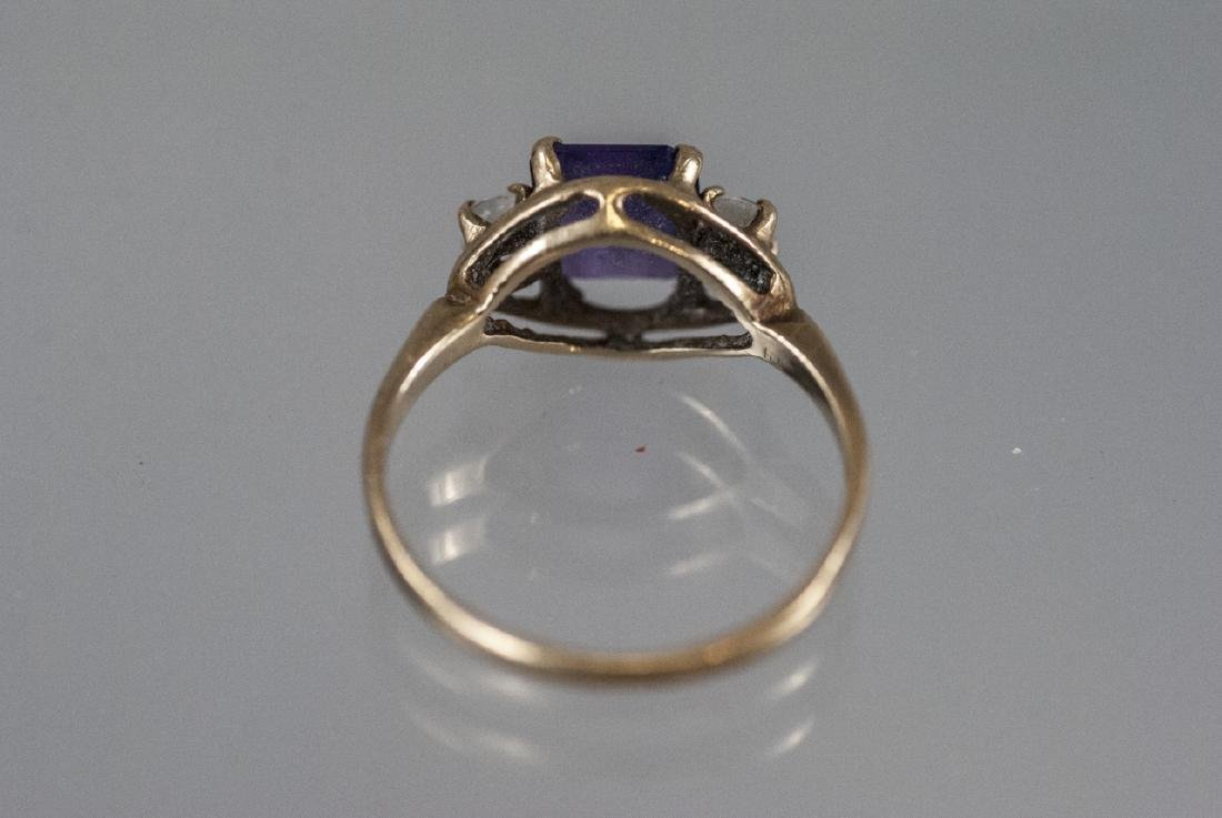 Estate / Antique 10kt Yellow Gold Ring w Amethyst - 7