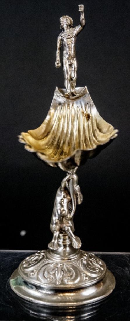 Antique Continental Silver & Gilt Figural Compote - 2