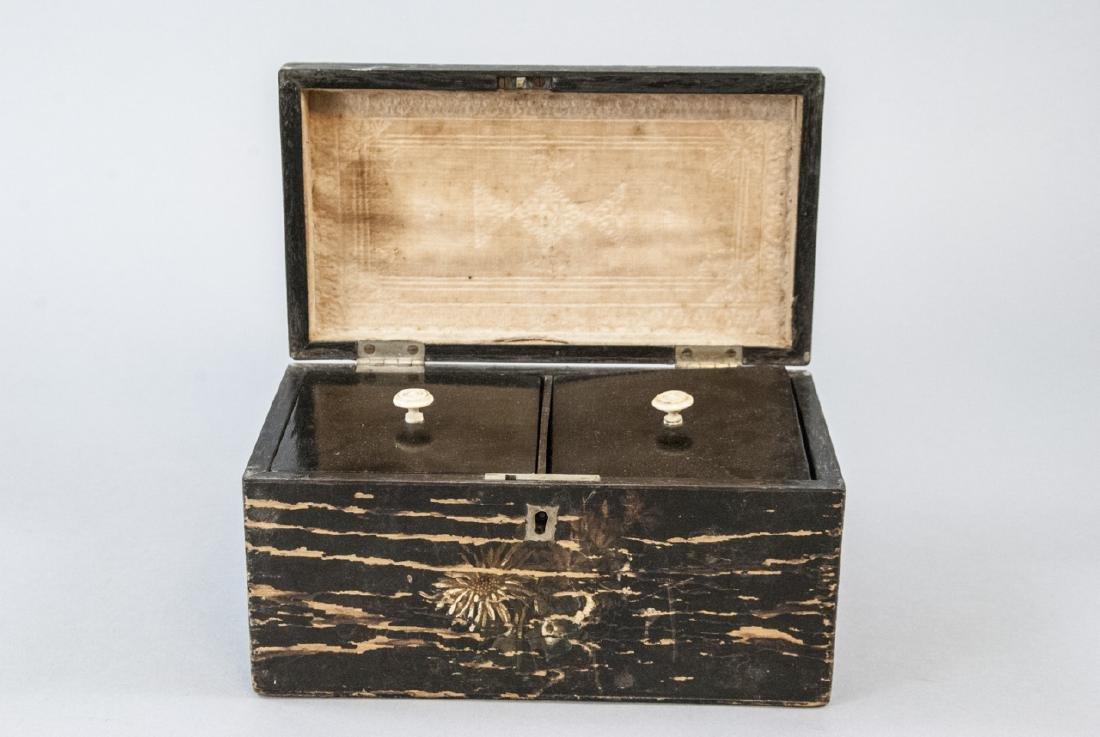 Antique 19th C American Folk Art Hand Painted Box