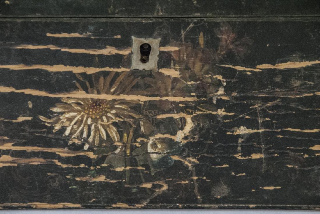 Antique 19th C American Folk Art Hand Painted Box - 2