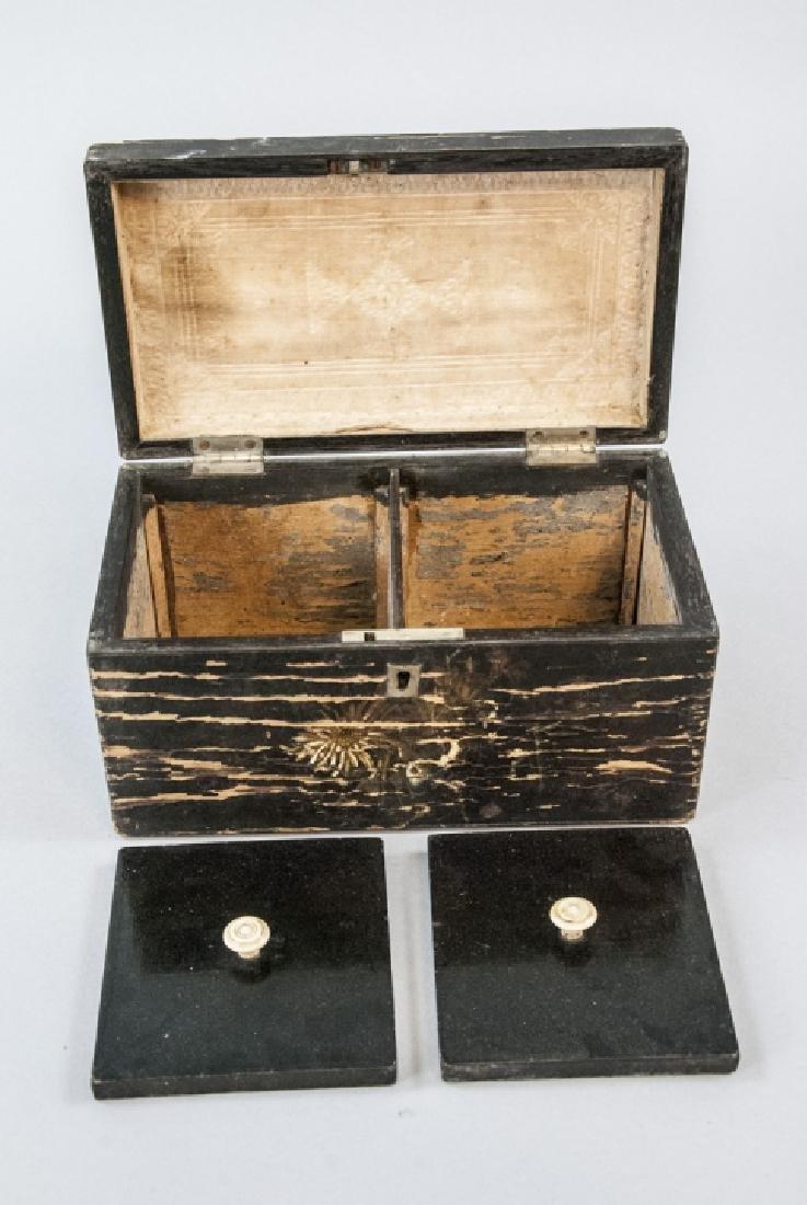 Antique 19th C American Folk Art Hand Painted Box - 4