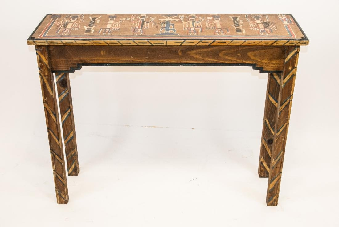 Hand Painted Mayan / Aztec Style Console Table