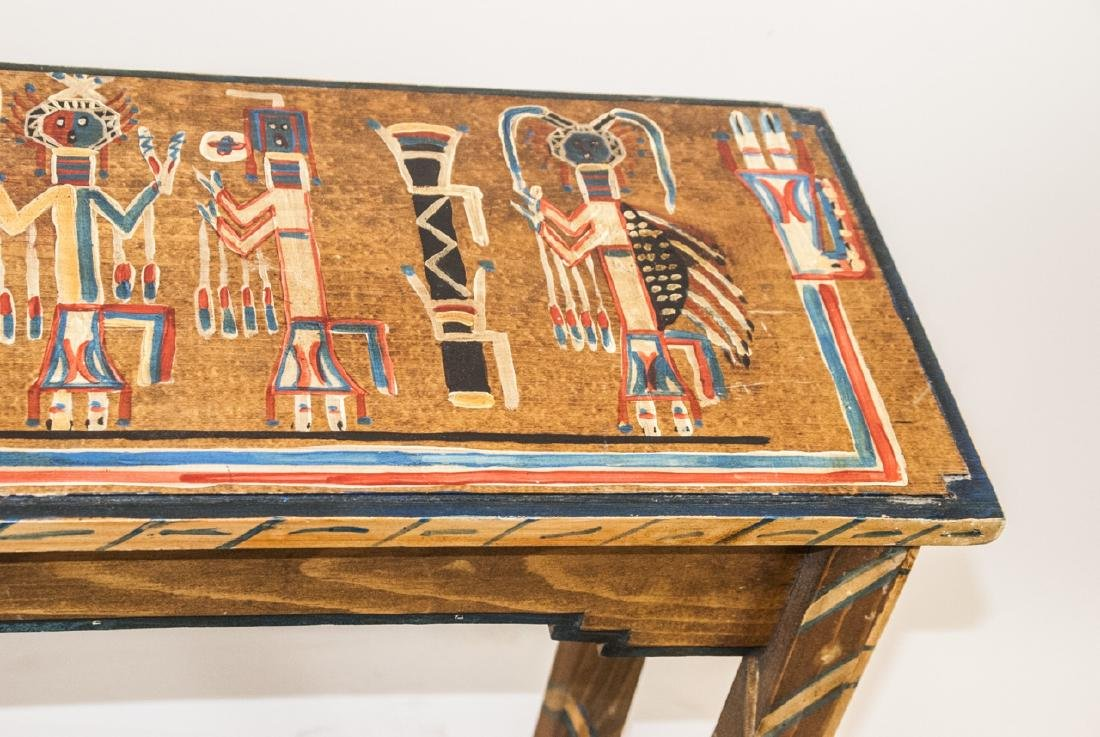 Hand Painted Mayan / Aztec Style Console Table - 3