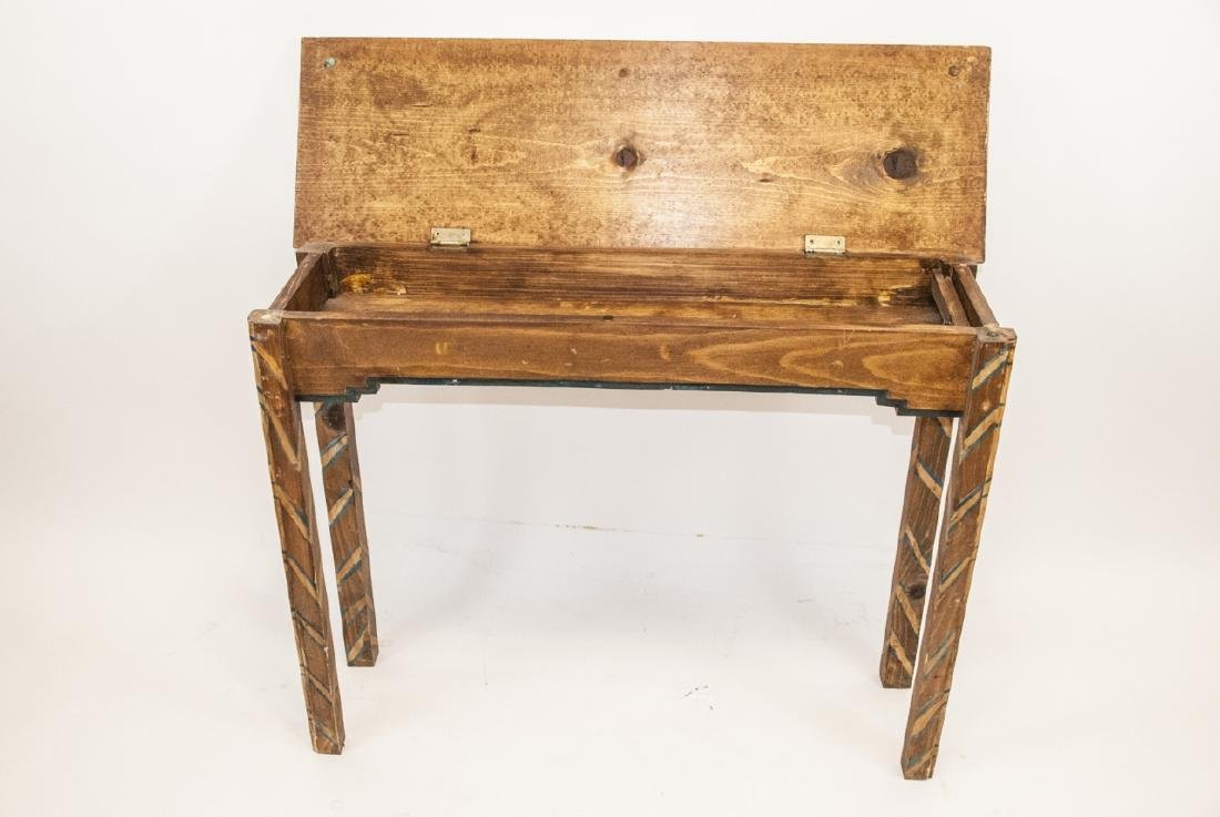 Hand Painted Mayan / Aztec Style Console Table - 7