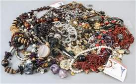 Group Vintage Costume Jewelry Including Sterling