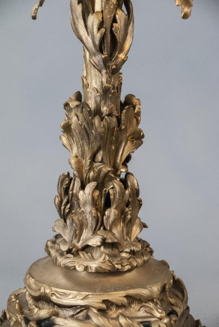 Large French Rococo Style Gilt Bronze Candelabras - 5