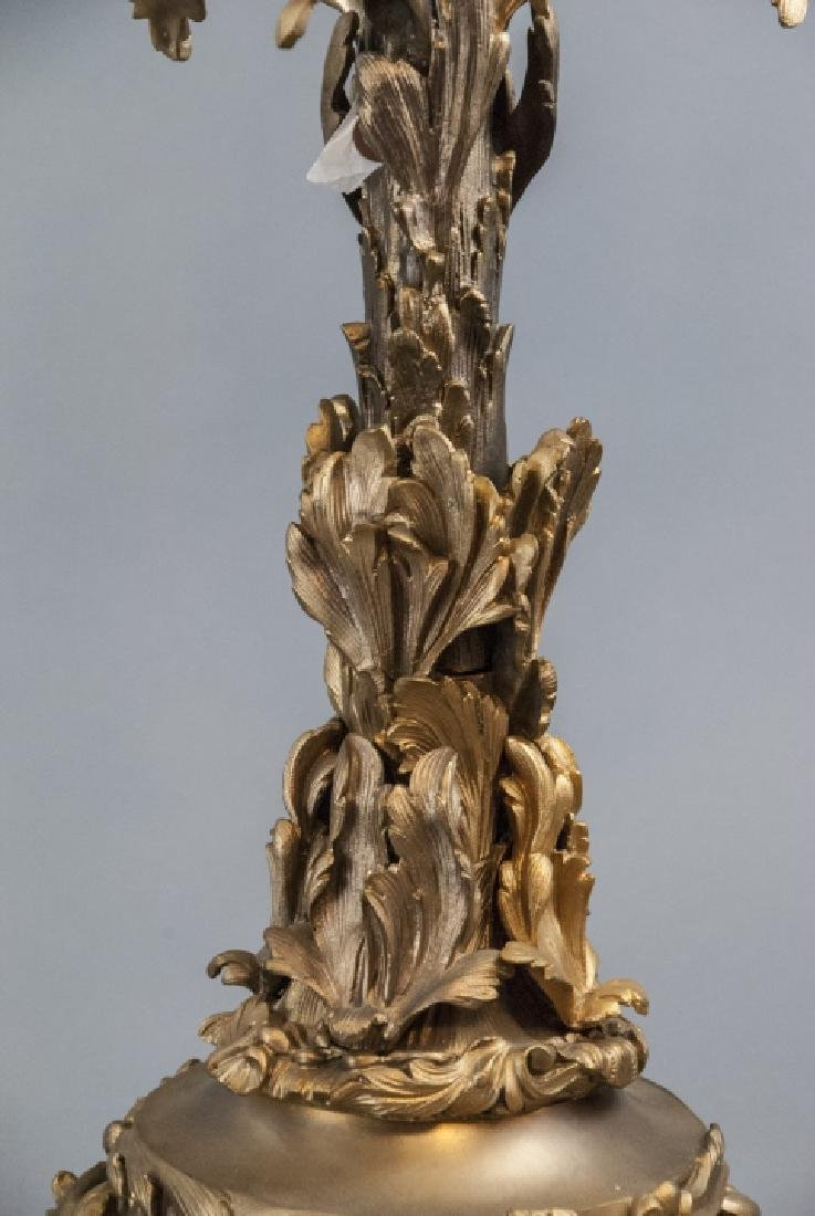 Large French Rococo Style Gilt Bronze Candelabras - 8