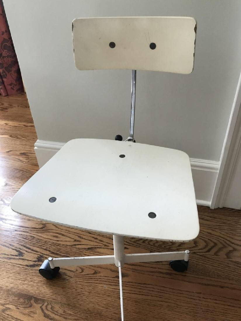 Vintage Mid Century Modern Desk Chair on Wheels - 3