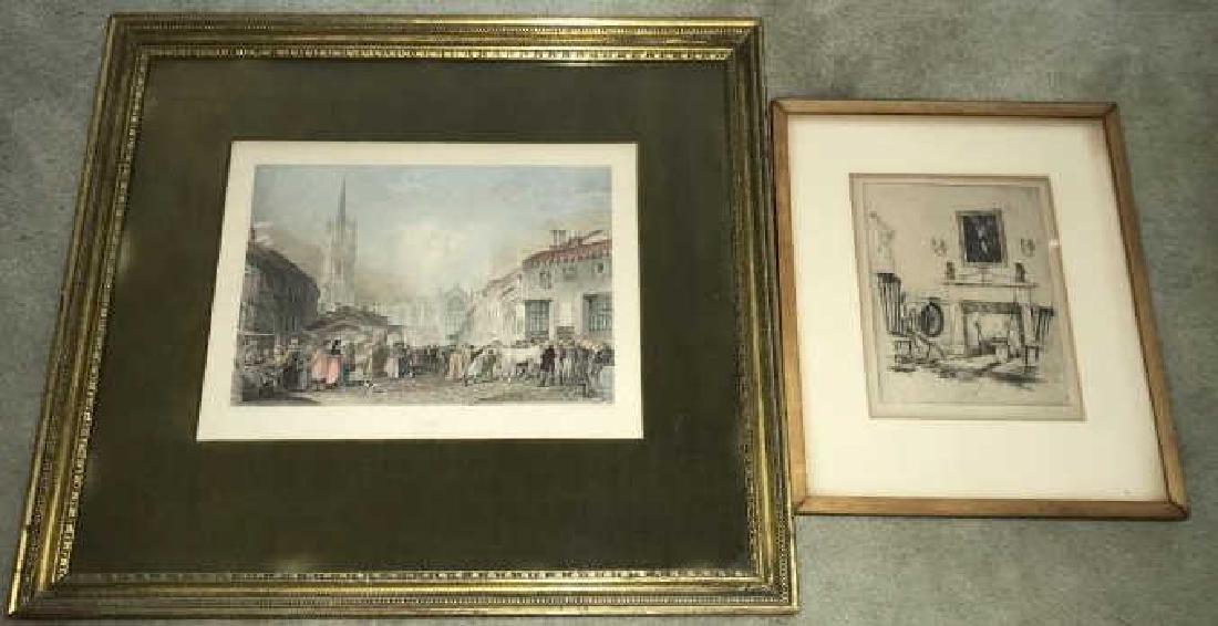 Antique Framed Engraving & Print