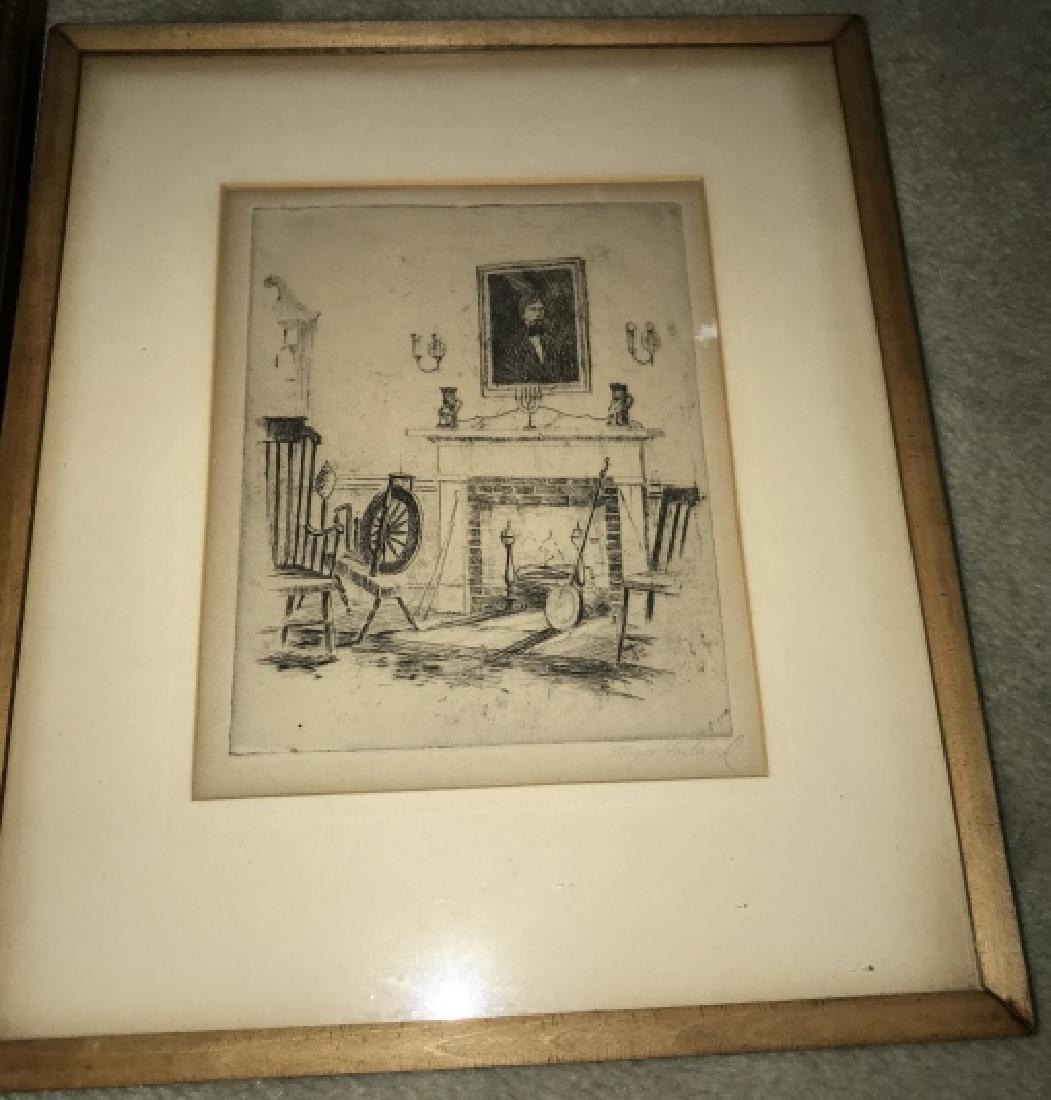 Antique Framed Engraving & Print - 3