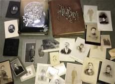 Two Antique 19th C Photo Albums w Tin Types / CDVs