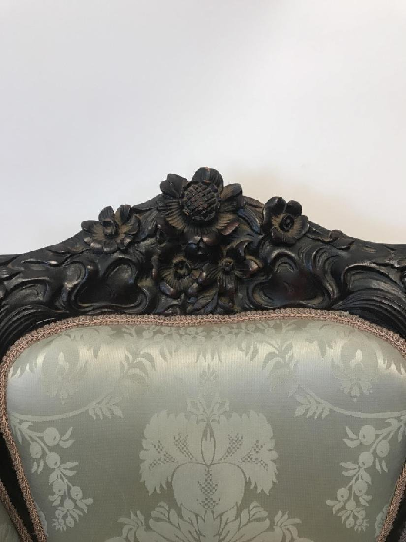Antique 19th C Heavily Carved Armchair Frame - 8