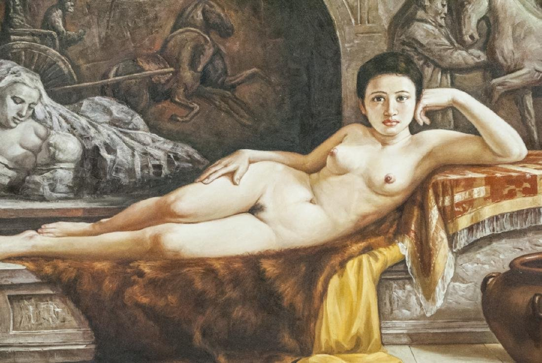 Reclining Female Nude / Odelesque Oil on Canvas - 2