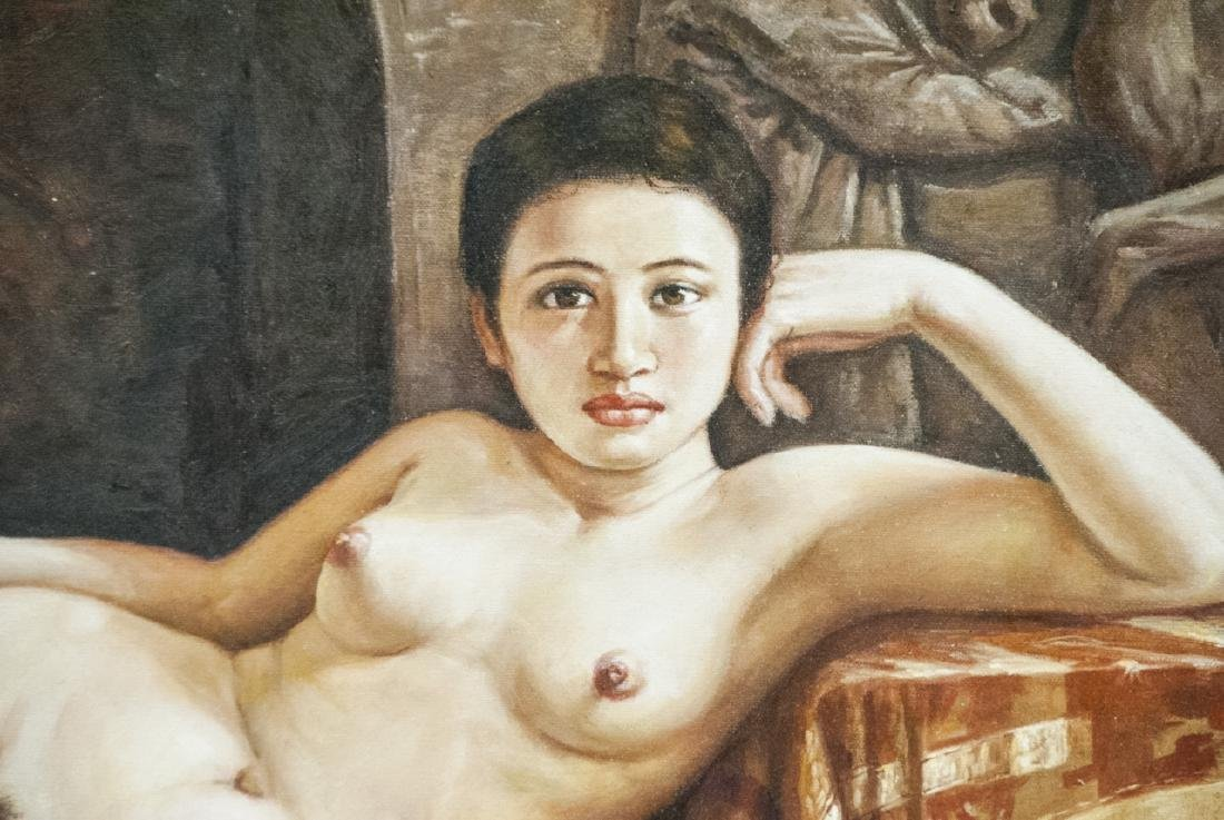 Reclining Female Nude / Odelesque Oil on Canvas - 4