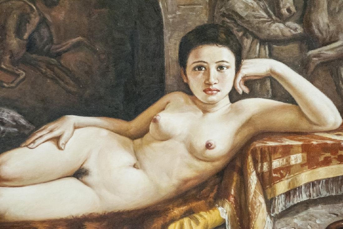Reclining Female Nude / Odelesque Oil on Canvas - 5