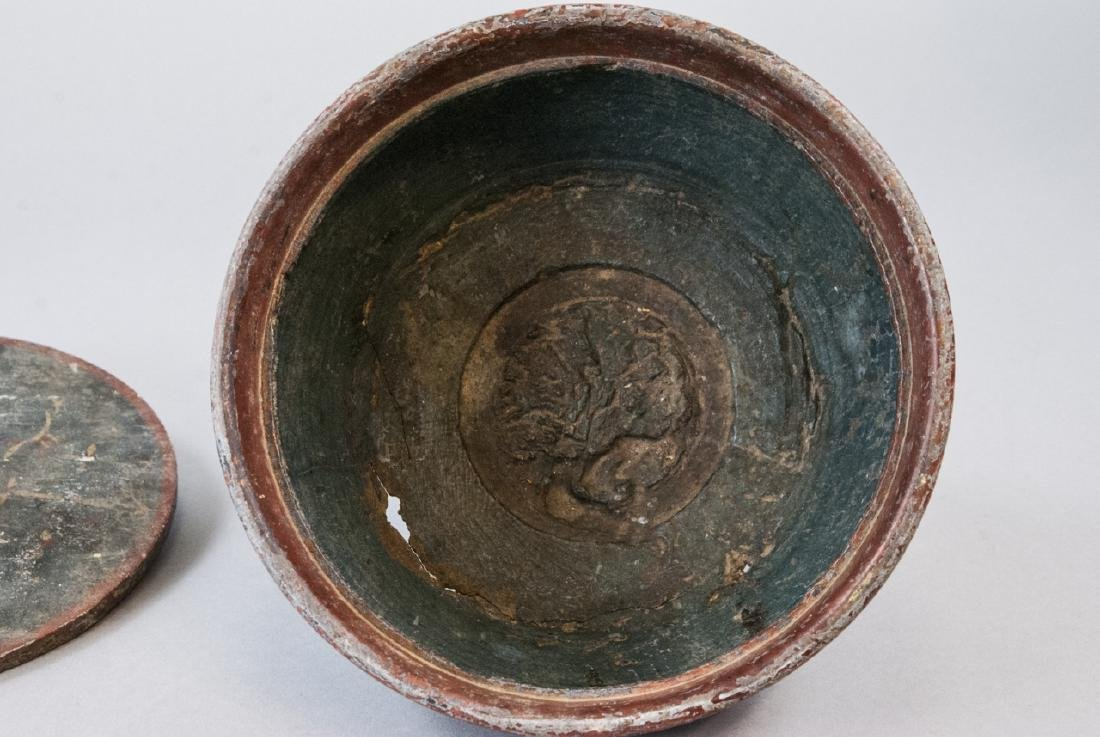 Early Wood Carved Java Box - 5