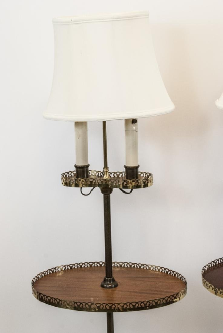 Pair Mid C Traditional Style Standing Floor Lamps - 2