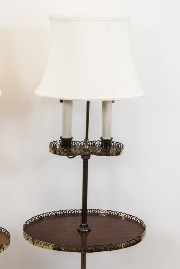 Pair Mid C Traditional Style Standing Floor Lamps - 3