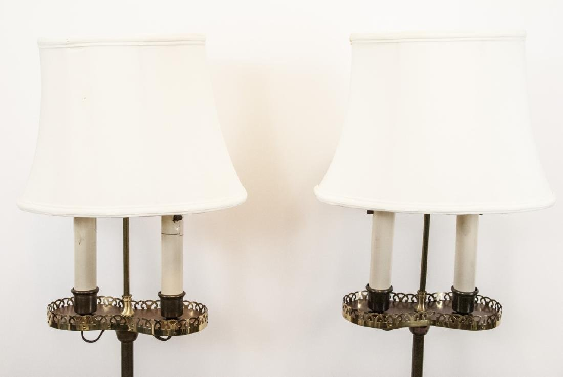 Pair Mid C Traditional Style Standing Floor Lamps - 8